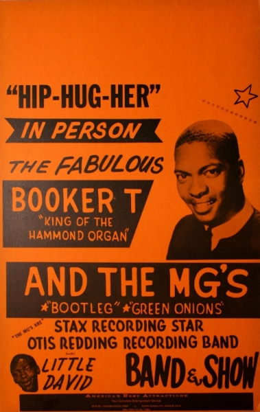 Affiche annonçant un concert de Booker T and The MG's, années 60.