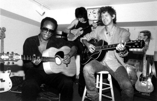 Fin des années 70: Bobby Womack et les Stones.